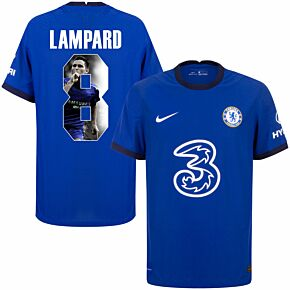 20-21 Chelsea Home Vapor Match Shirt + Lampard 8 (Gallery Printing)
