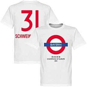 Bayern Underground Tee + Schweinsteiger 31 - White