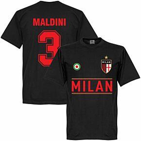 AC Milan Maldini 3 Team Tee - Black