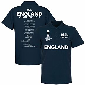 England Cricket World Cup  Winners Road to Victory Polo  Shirt - Navy