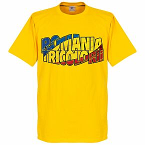 Romania Tri-color Tee - Yellow