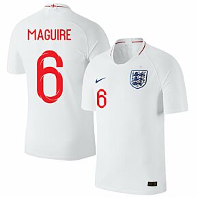 England Home Maguire 6 Jersey 2018 / 2019 (Fan Style Printing)