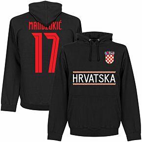 Croatia Mandzukic 17 Team Hoodie - Black