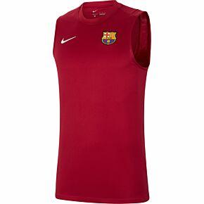 21-22 Barcelona Sleeveless Strike Top - Noble Red