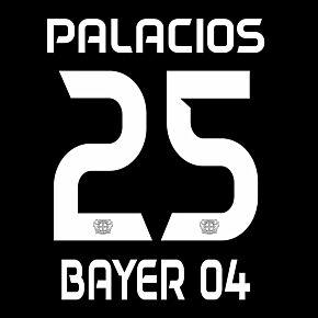 Palacios 25 (Official Printing) - 20-21 Bayer Leverkusen Home