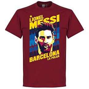 Messi Barcelona Portrait KIDS Tee - Red
