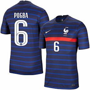 20-21 France Home Shirt + Pogba 6 (Official Printing)