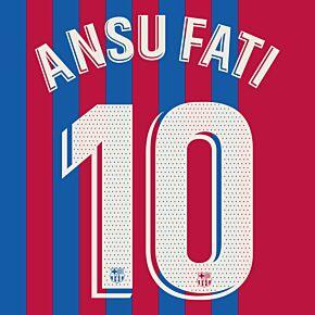 Ansu Fati 10 (Official Printing) - 21-22 Barcelona Home