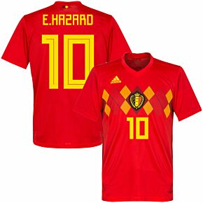 Belgium Home Hazard Jersey 2018 / 2019 (Official Printing)