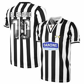 Copa Juventus Home Retro Shirt  1994-1995 + R. Baggio 10 (Gallery Style Printing)