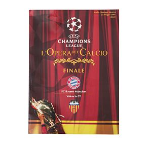 Bayern Munich vs Valencia - Champions League Final at Guiseppe Miazza Stadio in Rome Program - May 23, 2001
