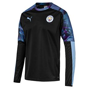 Puma Man City Windbreaker L/S Top - Black/Blue 2019-2020