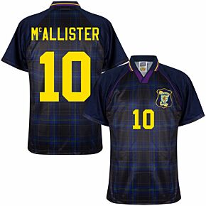 1996 Scotland Home Retro Shirt + McAllister 10 (Retro Flock Printing)