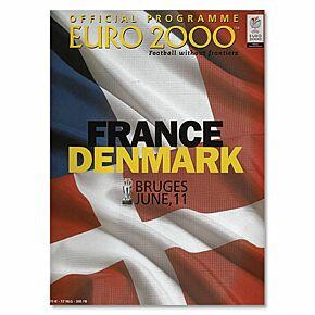 France vs Denmark European Championships in Bruges Program - June 11, 2000