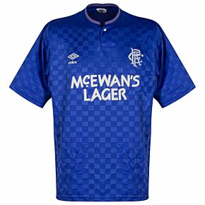 Umbro Rangers 1987-1990 HomeShirt - USED Condition (Great)- Size L