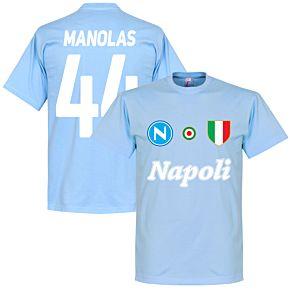 Napoli Manolas 44 Team Tee - Sky