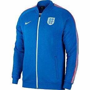 2021 England Fleece Track Jacket - Royal