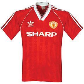 adidas Manchester United 1988-1990 Home Jerseey - USED Condition (Great) - Size S
