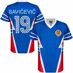 1990 Yugoslavia Retro Shirt + Savicevic 19 (Fan Style)