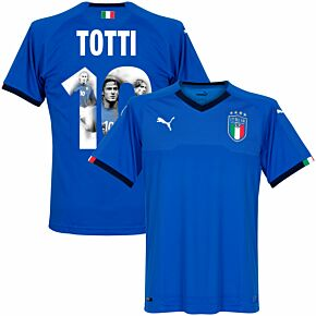 Italy Home Totti Jersey 2018 / 2019 (Gallery Style Printing)