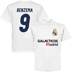 Galácticos Madrid Benzema 9 Team T-shirt - White
