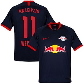 19-20 RB Leipzig Away Shirt + Werner 11 (Official Printing)