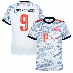 21-22 Bayern Munich 3rd Shirt + Lewandowski 9 (Official Printing)