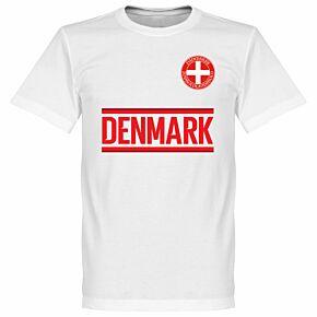 Denmark Team Tee - White
