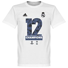 adidas Official Real Madrid KIDS Champions League Winners Tee