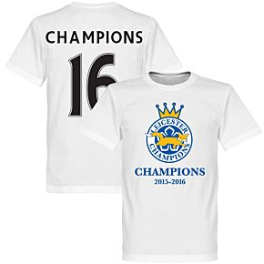 Leicester Champions '16 Tee - White