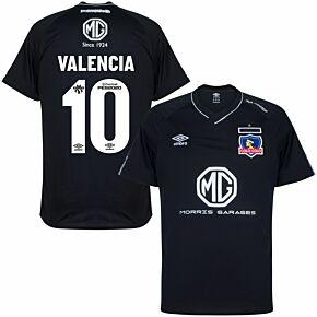 2020 Colo Colo Away Shirt + Valencia 10 (Fan Style Printing)