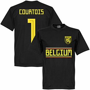 Belgium Courtois 1 Team Tee - Black