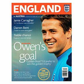 England vs Austria WC2006 Qualifier Program - Oct. 8, 2005