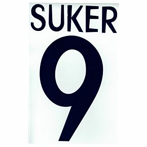 Suker 9 - 1998 Real Madrid Home Flex Name and Number Transfer