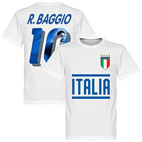 Italy Baggio 10 Gallery Team Tee - White