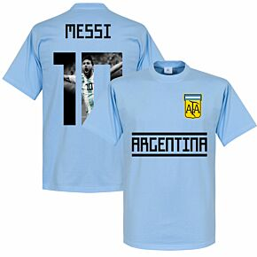 Argentina Messi 10 Gallery Team Tee - Sky