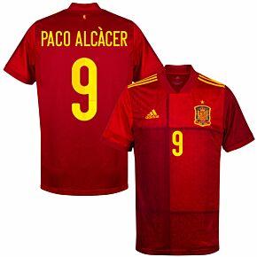 20-21 Spain Home Shirt + Paco Alcacer 9