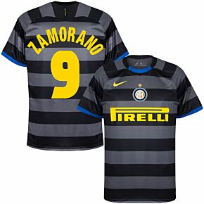 20-21 Inter Milan 3rd Shirt + Zamorano 9 (Retro Fan Style)