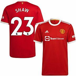 21-22 Man Utd Home Shirt + Shaw 23 (Premier League)