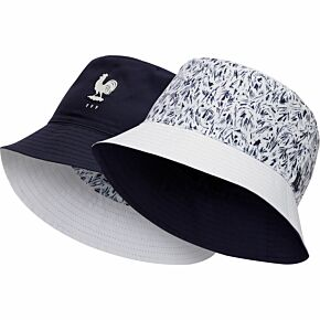 20-21 France Reversible Bucket Hat - Navy/White