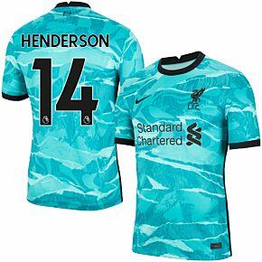 20-21 Liverpool Away Shirt + Henderson 14 (Premier League)