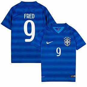 14-15 Brazil Away Shirt - Boys + Fred 9 (Fan Style)
