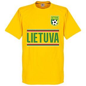 Lithuania Team Tee - Yellow