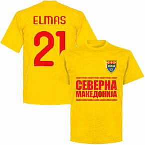 North Macedonia Elmas 21 Team T-shirt - Yellow