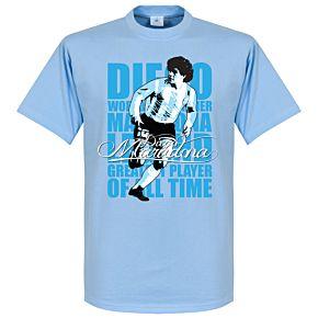 Maradona Legend Tee - Sky