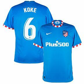21-22 Atletico Madrid 3rd Shirt + Koke 6 (Official Printing)