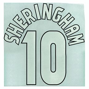 Sheringham 10 - 98-99 Home C/L Style 1 Star Flock Name and Number Transfer