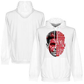 Gerrard Tribute Hoodie - White