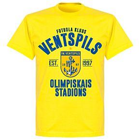 Ventspils Established T-shirt - Lemon Yellow