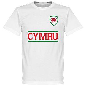 Cymru Team Tee - White